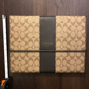 Coach brand brown portfolio